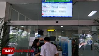 Suasana di pintu masuk Bandara Abdulrachman Saleh Malang, Selasa (23/7/2019). (foto: Widodo Irianto/TIMES Indonesia)
