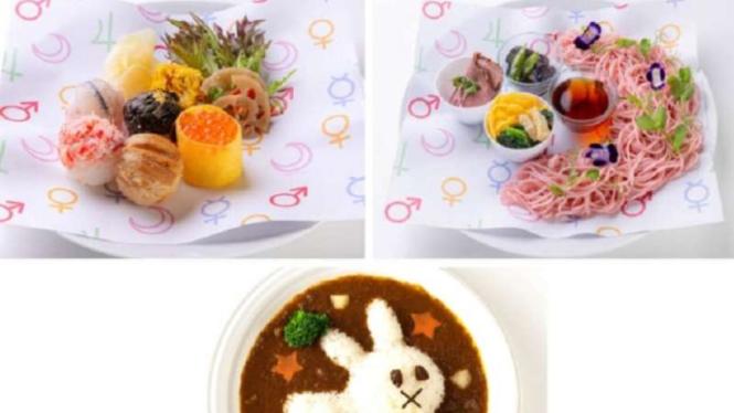 Menu di Restoran Sailor Moon