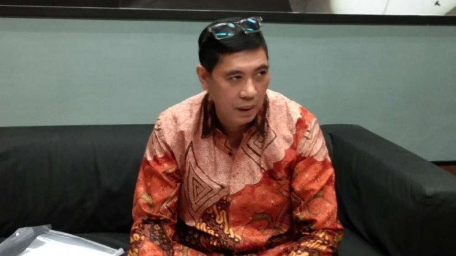 Komisaris Independen PT Krakatau Steel, Roy Maningkas usai mengundurkan diri.
