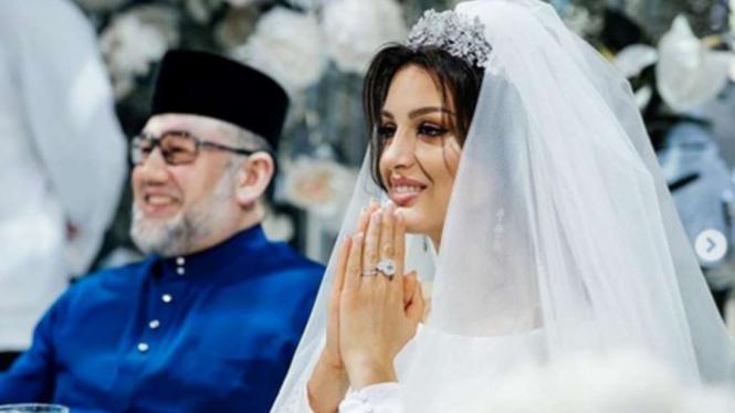 Pernikahan Miss Moscow 2015, Rihana dengan Sultan Muhammad V