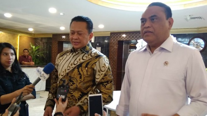 Ketua DPR Bambang Soesatyo bertemu dengan Menpan-RB Syafrudin