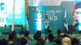 Ketua Umum PKB Muhaimin Iskandar atau Cak Imin saat harlah PKB