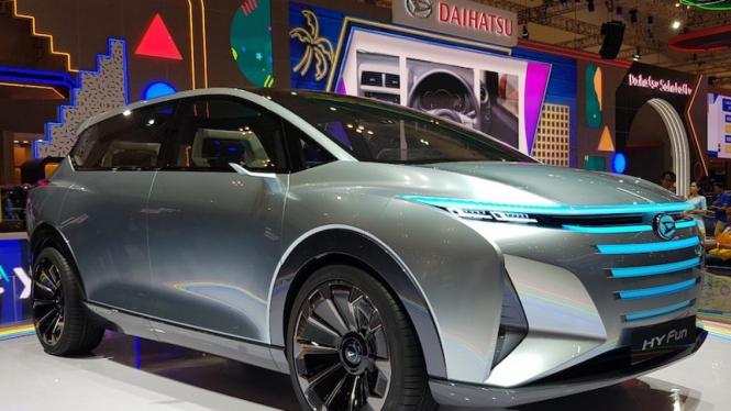 Hy-Fun, mobil konsep MPV dari Daihatsu saat dipamerkan di GIIAS 2019.