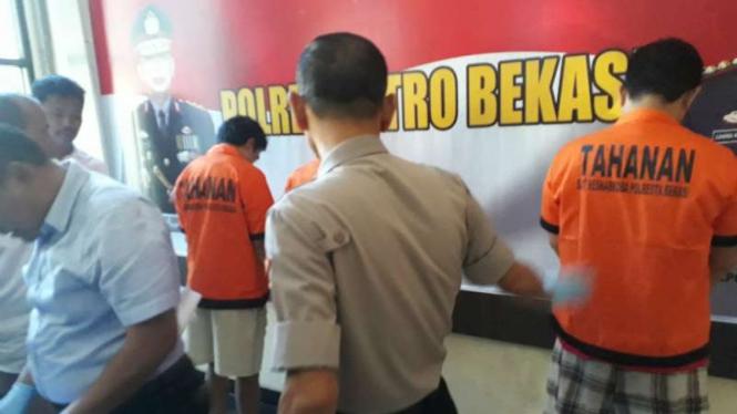 Pengedar sabu diamankan di Bekasi.