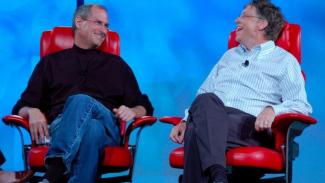 Bill Gates dan Steve Jobs: Dua Miliarder Anti Kritik. (FOTO: Business Insider)
