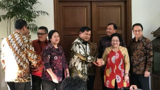 Prabowo tiba di rumah Megawati, Rabu 24 Juli 2019.