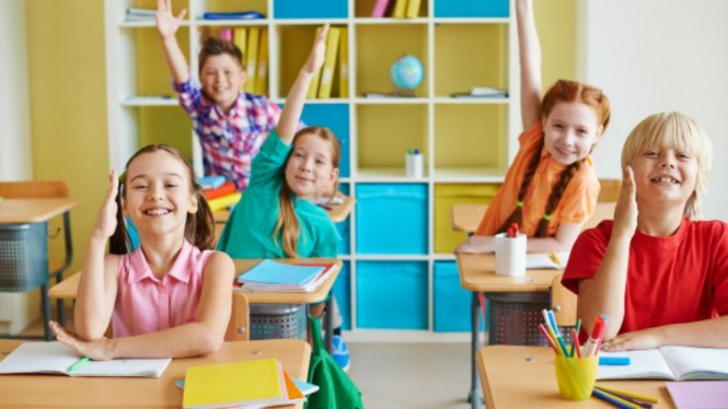 Ilustrasi anak sekolah.