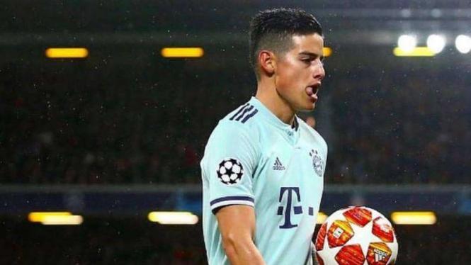 James Rodriguez saat masih membela Bayern Munich