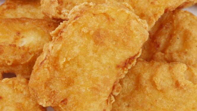 Ilustrasi nugget /frozen food/makanan beku.