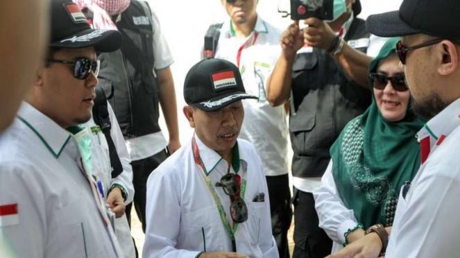 Dirjen Haji dan Umrah Kementerian Agama Nizar Ali meninjau kesiapan Arafah