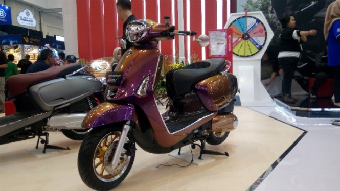 Motor Kymco modifikasi.
