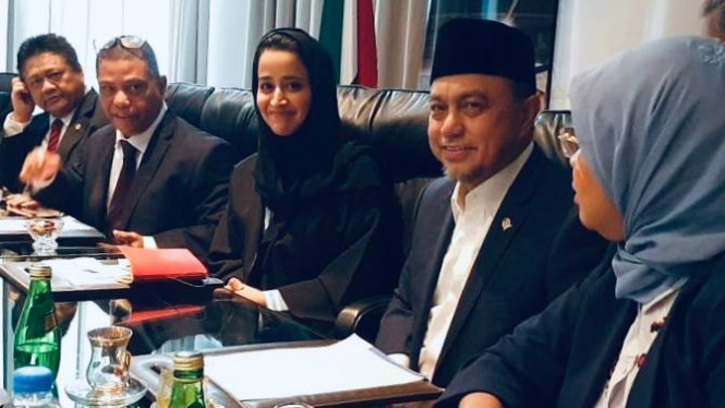 Wakil Ketua Komisi VII DPR, Tamsil Linrung (dua dari kanan)