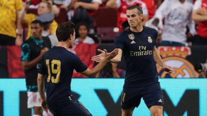 Megabintang Real Madrid, Gareth Bale (kanan)