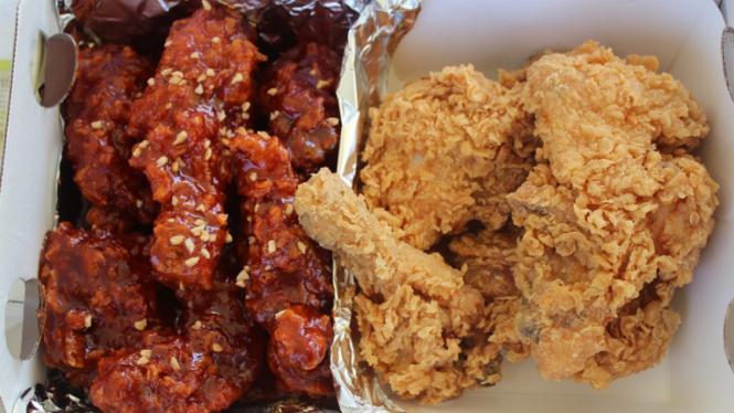Ayam goreng Korea.