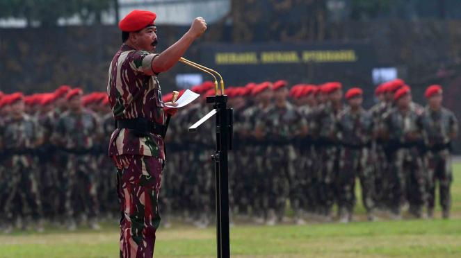 Panglima TNI Hadi Tjahjanto. (Ilustrasi pasukan TNI)