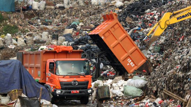Ilustrasi truk sampah.
