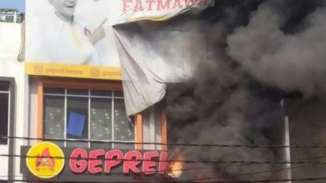 Restoran Geprek Bensu di Fatmawati terbakar, Rabu, 31 Juli 2019