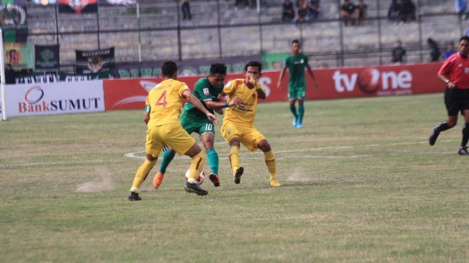Pertandingan PSMS Medan vs Sriwijaya FC di Liga 2 2019