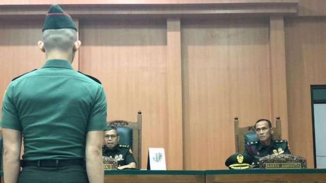 Terdakwa kasus pembunuhan dan mutilasi di Musi Banyuasin, Sumsel.