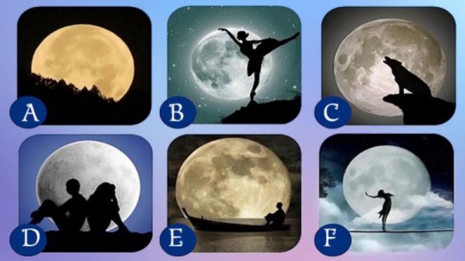 Gambar bulan yang mampu ungkapkan kepribadian.
