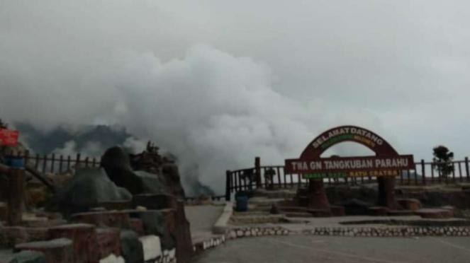Taman Wisata Alam Gunung Tangkuban Perahu di Bandung, Jawa Barat