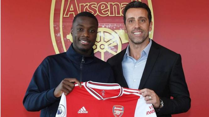 Arsenal perkenalkan Nicolas Pepe, sumber arsenal.com