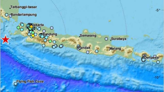 Titik-titik wilayah yang mengalami gempa