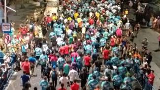 Surabaya Marathon di Jalan Embong Malang Surabaya, Jawa Timur