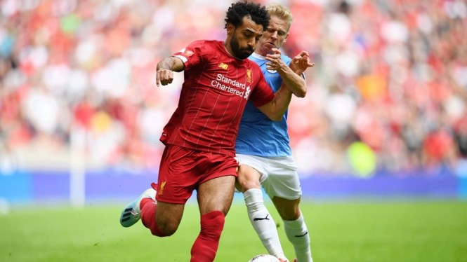 Pertandingan Liverpool vs Manchester City di Community Shield