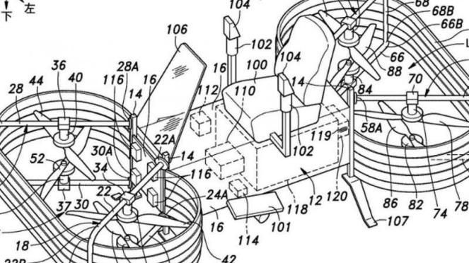 Desain motor terbang milik Honda