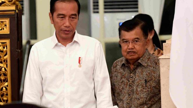 Presiden Jokowi dan Wapres Jusuf Kalla