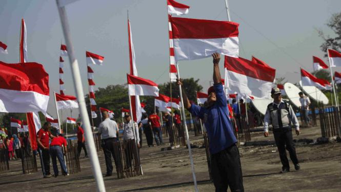 Bendera merah putih. (Foto ilustrasi).