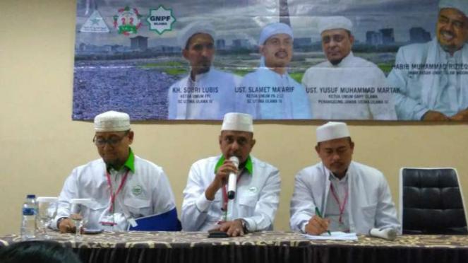 Juru Bicara Front Pembela Islam (FPI) Slamet Maarif