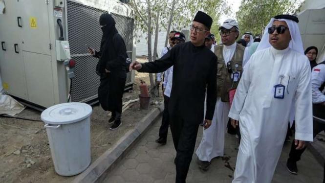 Amirul Hajj Lukman Hakim Saifuddin meninjau tenda jemaah haji di Arafah