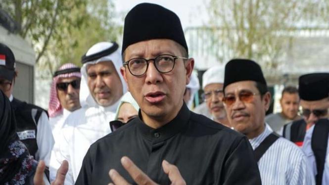 Amirul Hajj yang juga Menteri Agama Lukman Hakim Saifuddin di Arafah