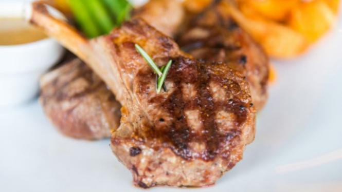 Ilustrasi daging kambing.