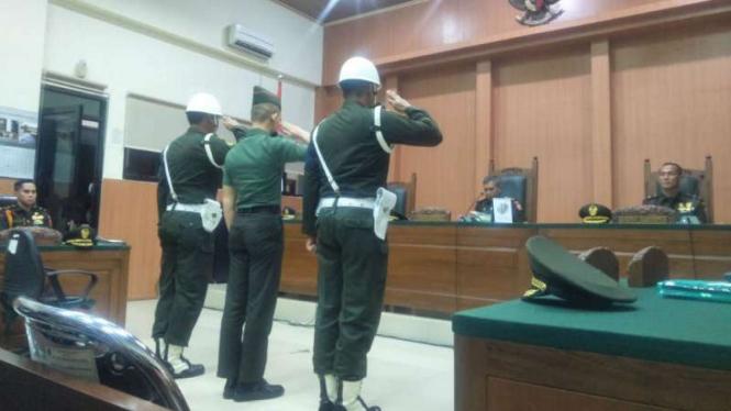 Pengadilan Militer I-04 Palembang menggelar sidang kasus pembunuhan dan mutilasi