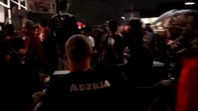 Suporter PSM usai nobar di Jakarta