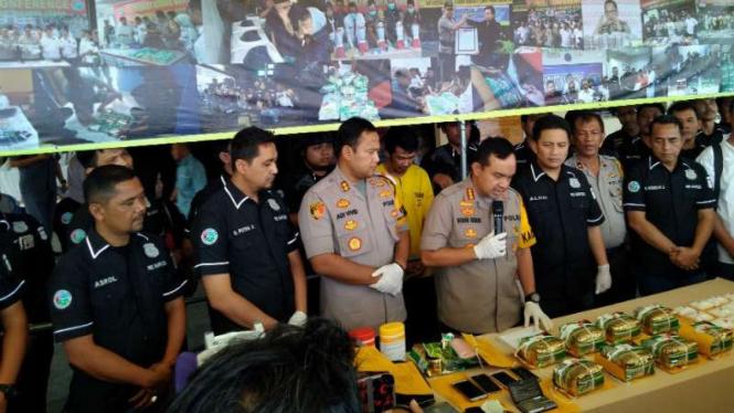 Polres Jakarta Utara mengungkap kasus narkoba