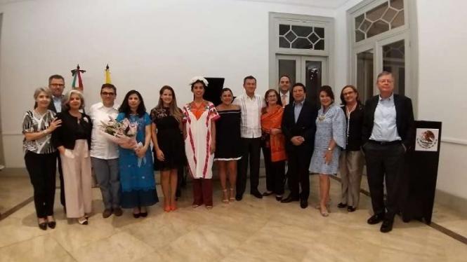 Konser mini pianis Meksiko Irma Enriquez dan sopranis Kolombia Paola Monroy di Jakarta, 6 Agustus 2019. Ini hasil kerjasama Kedutaan Besar Meksiko dan Kedubes Kolombia di Jakarta.