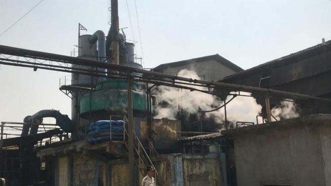 Cerobong asap peyebab polusi udara di Jakarta