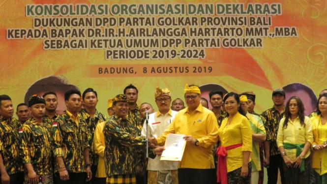 Airlangga Hartarto dapat dukungan dari Golkar Bali