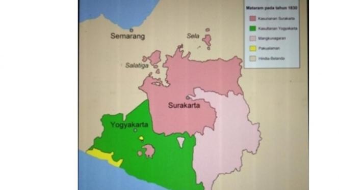 Pembagian Wilayah Setelah Perjanjian Giyanti