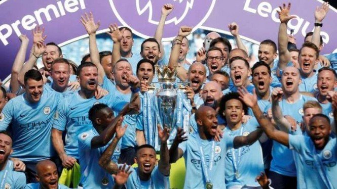 Manchester City juara Premier League 2018/2019