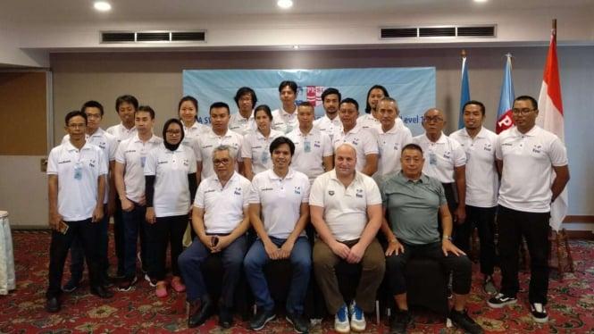 Pelatihan sertifikasi FINA yang digelar PB PRSI