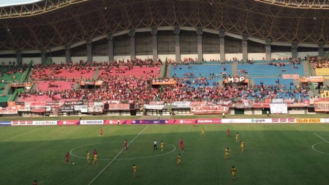 Laga Persija Jakarta kontra Bhayangkara FC sepi penonton