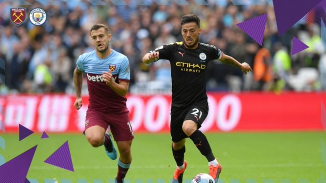 Duel West Ham United vs Manchester City.