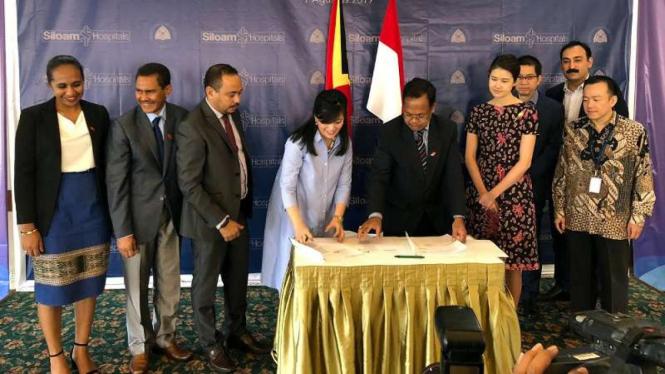 Kerja sama Indonesia dan Timor Leste dalam bidang kesehatan.