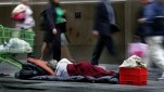 Homeless people are subject to hefty fines for begging in Melbourne.