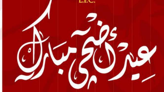 Ucapan selamat Idul Adha dari Liverpool